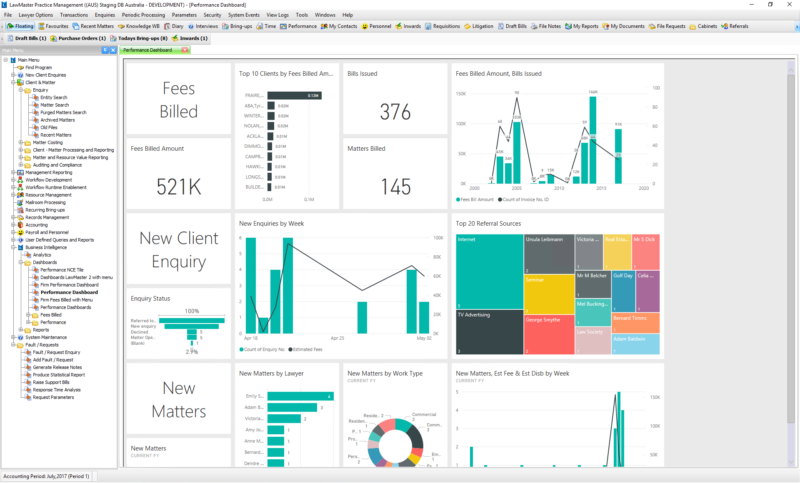 LawMaster Dashboards